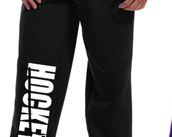 Customized hockey sweatpants; hockey gift; boy's clothing; girl's clothing; hockey sweatpants