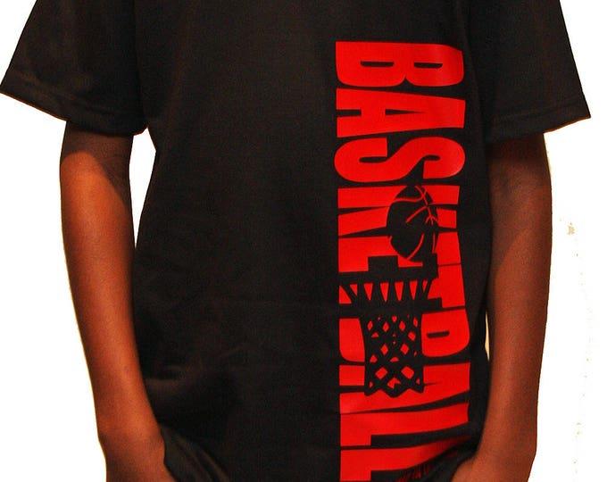 Fun basketball t-shirt for boys and girls; boys basketball tee; basketball girl gift