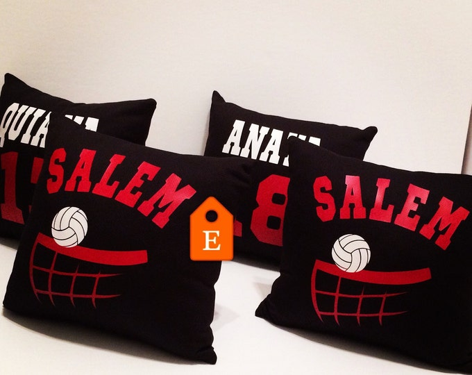 Volleyball player gifts, customized volleyball team pillow, volleyball bedding, volleyball girl