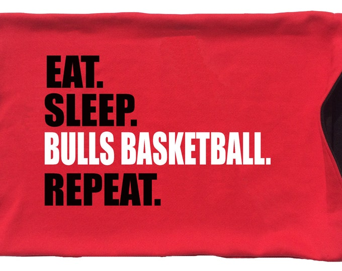 Eat. Sleep. [Your team name] Basketball. Repeat. pillowcase