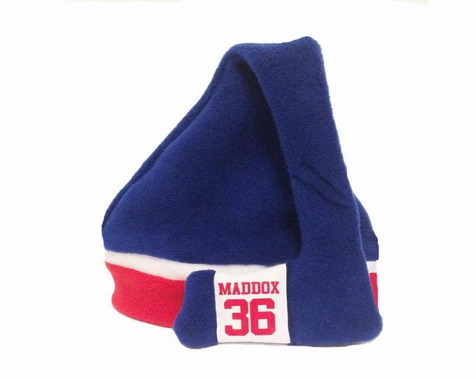 Customized hockey hat, personalized winter hat, boys clothing; girls clothing