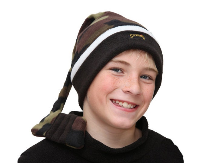 Camo hat, child camo hat, camo hockey hat