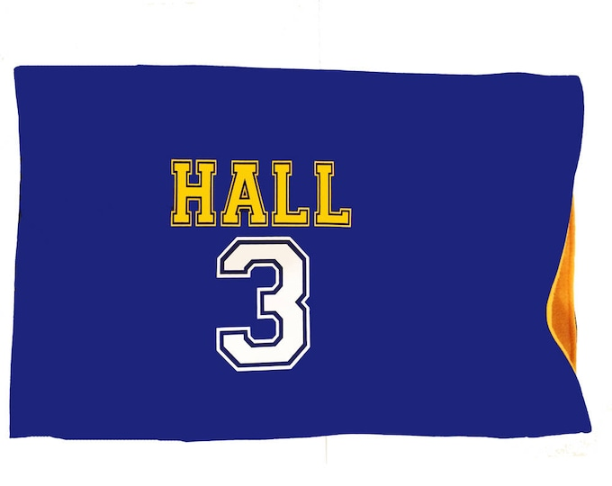 Personalized sports pillowcase; name and number pillow, sports themed bedding; camp pillow