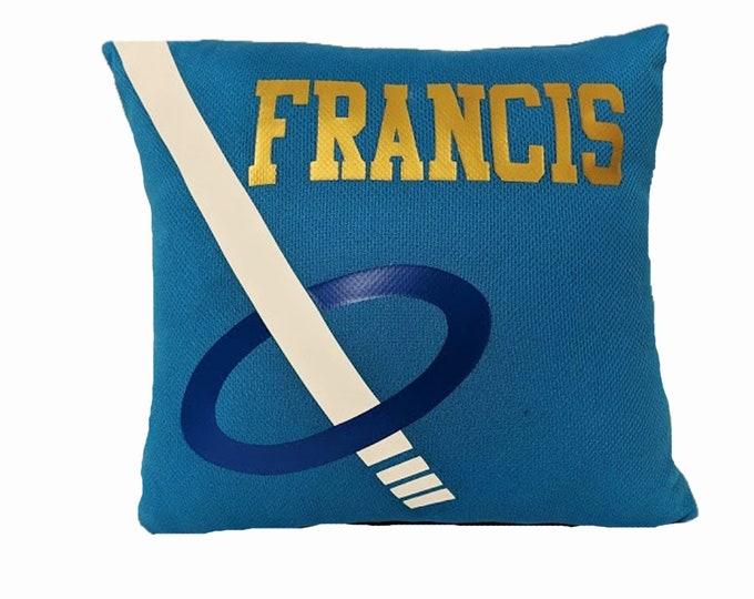 Pillows for ringette players; ringette team gifts; ringette room decor