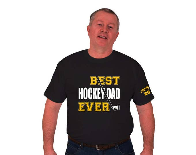 Hockey dad t-shirt;Personalized Father's day gift; gift for uncle and grandfather