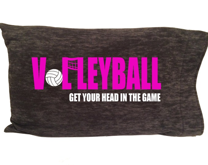 Personalized volleyball pillowcase for girl or boy bedroom; camp bedding; gift for volleyball team