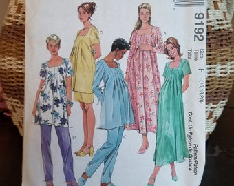 fcfba96620db6 90s Maternity Dress Pattern, UNCUT, McCall's 9192, Size 16-20, Maternity  Sewing Pattern, Maternity Dress & Slacks