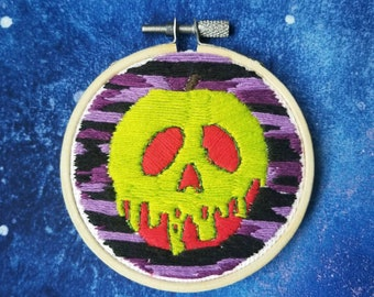 Glowing poison Apple embroidery