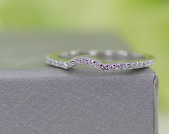 Curved Wedding Band Etsy