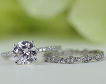 38274 Diamond-unique sólido plata rodio platino Solitario Anillo