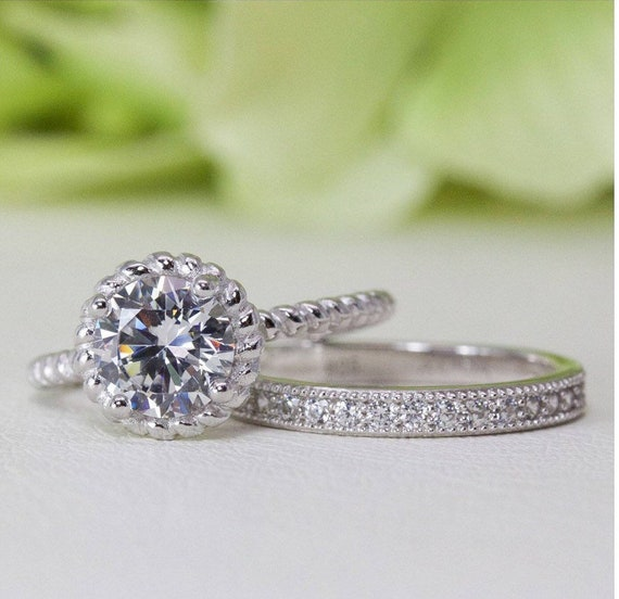 1.00 Ct Travel Ring Art Deco Style Cushion Halo Fine Quality Cubic Zirconia Ring In Sterling Silver Promise Ring Engagement Ring