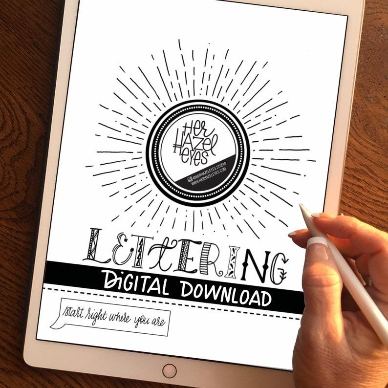 Digital Download Learn Lettering Brush Lettering Beginners image 0