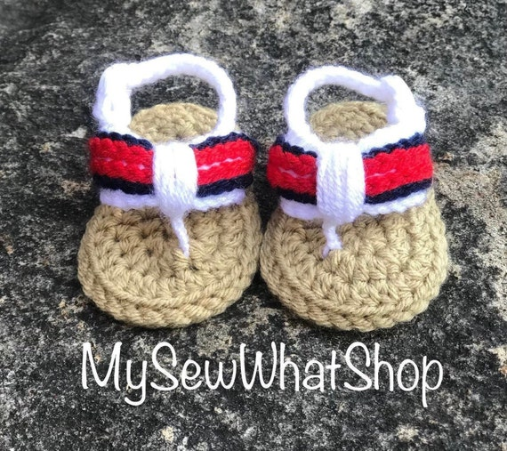 00780e2c1517d Baby Girls or Boys Crochet Flip Flops - Size 0-6 Months