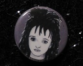 Lydia Deetz from Beetlejuice pin - Bad Ass Ladies of Horror - Wearable Art - Unique Gift for ALL Horror Fans