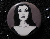 Vampira pin - Bad Ass Ladies of Horror - Wearable Art - Unique Gift for ALL Horror Fans