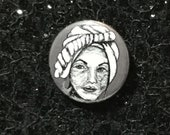 Marie Laveau from American Horror Story Murder House Pin - Wearable Art - Unique Gift  for ALL Horror Fans