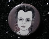 Wednesday Addams from The Addams Family pin - Bad Ass Ladies of Horror - Wearable Art - Unique Gift for ALL Horror Fans