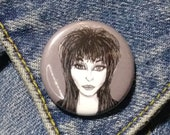 Elvira pin - Bad Ass Ladies of Horror - Wearable Art - Unique Gift for ALL Horror Fans