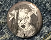 Satanist Clown from American Horror Story Cult Pin - Wearable Art - Unique Gift  for ALL Horror Fans