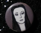 Morticia Addams from The Addams Family pin - Bad Ass Ladies of Horror - Wearable Art - Unique Gift for ALL Horror Fans
