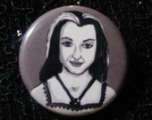 Lily Munster from The Munsters pin - Bad Ass Ladies of Horror - Wearable Art - Unique Gift for ALL Horror Fans