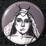 Lady Gaga as Scáthach from American Horror Story Roanoke Pin - Wearable Art - Unique Gift  for ALL American Horror Story Fans