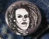 Sally McKenna Hypodermic Sally from American Horror Story Hotel Pin - Wearable Art - Unique Gift  for ALL American Horror Story Fans