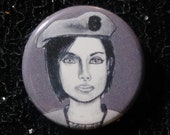 Jill Valentine from Resident Evil pin - Bad Ass Ladies of Horror - Wearable Art - Unique Gift for ALL Horror Fans