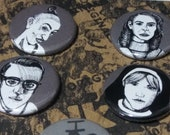 American Horror Story Asylum Button Set - Wearable Art - Unique Gift Set  For ALL lovers of AHS!