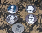 American Horror Story Cult Button Set - Wearable Art - Unique Gift Set  For ALL lovers of AHS!