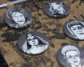 American Horror Story Roanoke Button Set - Wearable Art - Unique Gift Set  For ALL lovers of AHS!