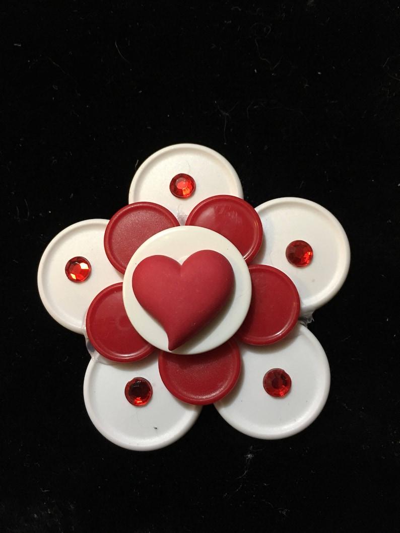 Valentines dayHeartishred geart badge love Valentine/'s Day gift