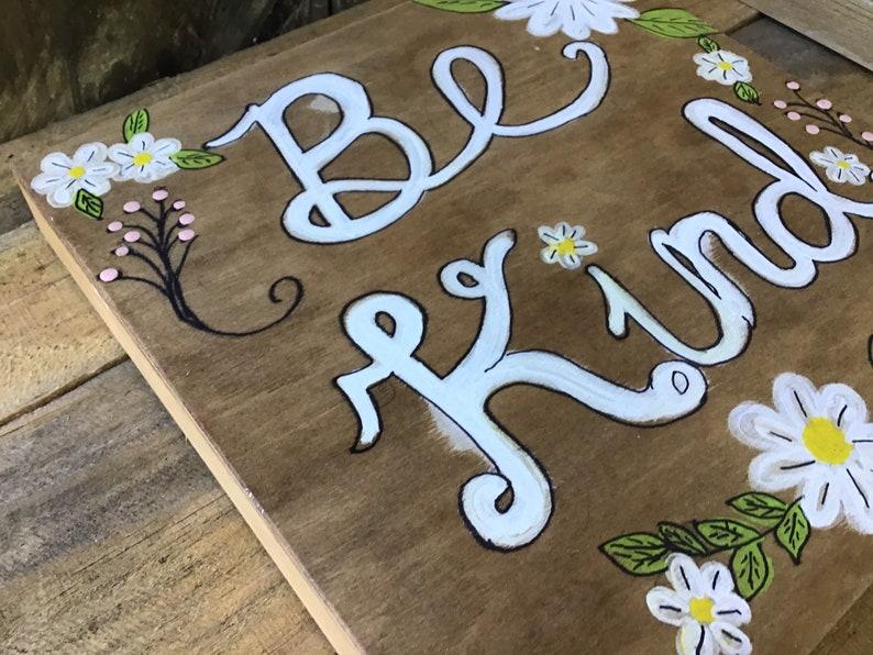 Be kind Wood Art