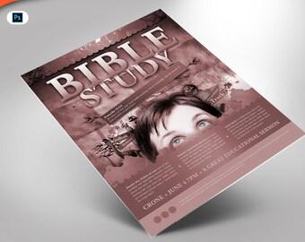 Bible Study Flyer Photoshop Template (4x6)