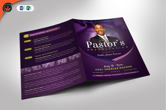 pastor s appreciation program publisher and word template etsy