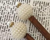 Large Faux Pearl Beaded Hairstick Set - Bead Hair Sticks