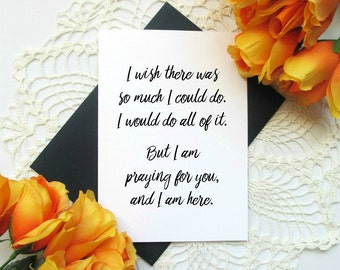Chronic Illness Invisible Illness Card - Christian Encouragement Card - Wish I Could Help