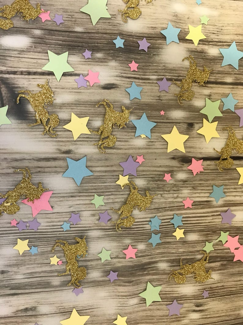 UNICORN BIRTHDAY CONFETTI Confetti Ideas Birthday Table