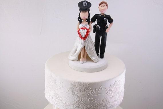 Gateau Mariage Personnalise Figurine De Mariage Officier De Etsy