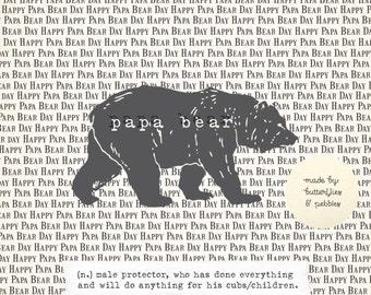 Father's Day Card. Papa Bear. Celebration.