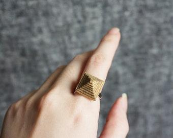 Pyramid Ring Handmade