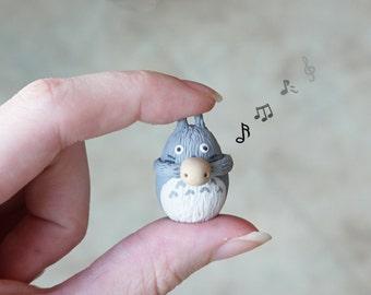 Totoro Playing Ocarina Figurine