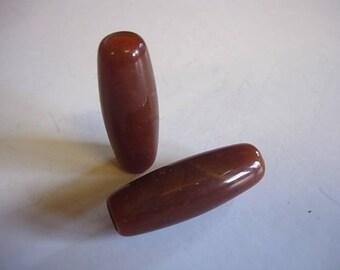 Set of 2 resin tubes marbled