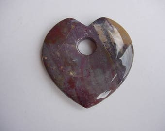 Japse gemstone heart pendant