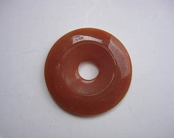 Stone red Aventurine Donut ring