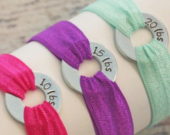 New Years Resolution Weight Loss Motivational Bracelet Solid Colors