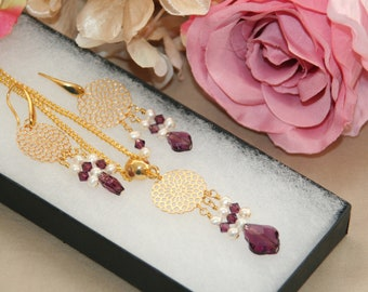 Crystal baroque necklace and earrings