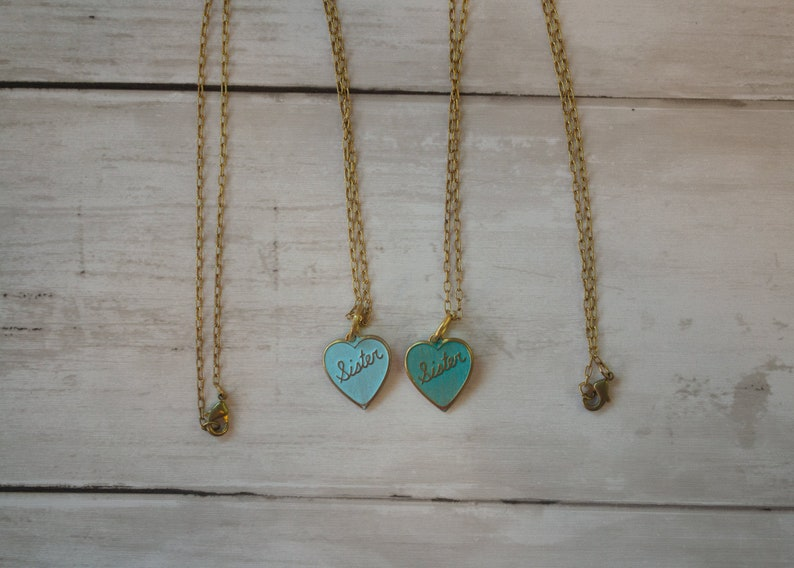 Sister Necklace I love my sister Rose Gold Necklace Blue Necklace Sister Jewelry Rose Gold Jewelry Family Jewelry Blue Jewelry