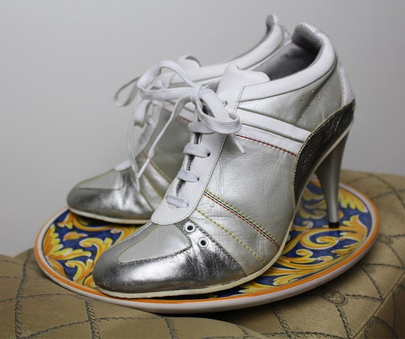 90s Leather FORNARINA Heeled Sneakers