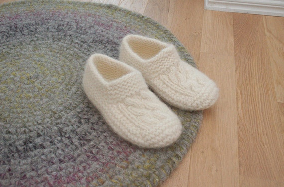 Pantoffel Socken aus Wolle die Kabel Socken gekochte Wolle | Etsy